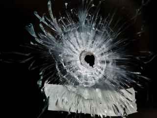 Impacto de bala de los ataques de París.